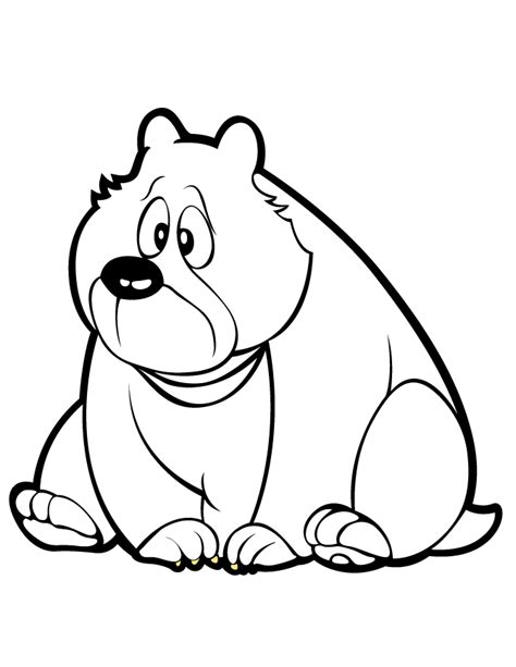 cute cartoon bear coloring page   coloring pages