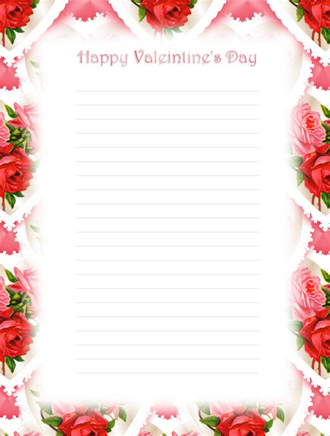 printable valentine stationery 7 best images of free printable valentine s day stationary