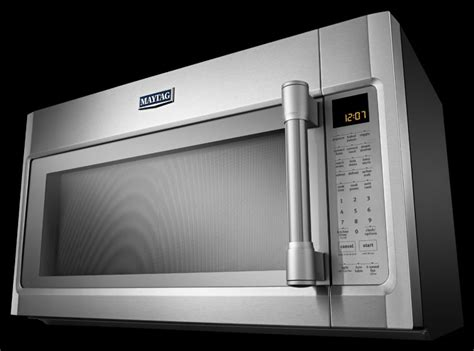 Microwave 400 Watt maytag mmv6190ds 1 9 cu ft the range microwave oven