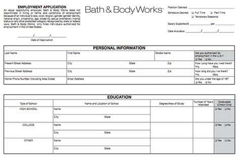 bed bath and beyond hiring age bath and body works printable applications online