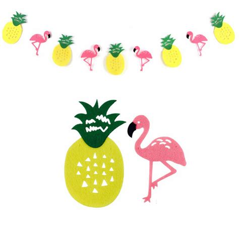 Hawaiian Home Decor by Flamingo And Pineapple Banner Bunting Summer Party Garland