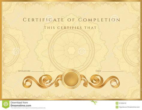 certificate design golden golden certificate diploma background template stock