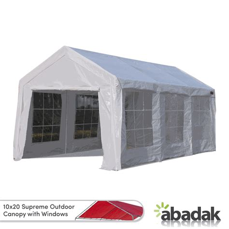 Canopy Sidewalls With Windows - 10 x 20 supreme tarp tent canopy enclosed with windows