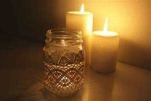 Jar Candles Laced Jar Candles Adorned With