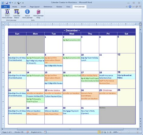 Calendar Software Calendar Maker Calendar Creator For Word And Excel