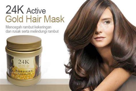 Masker Emas Masker Rambut 24 K Active Gold Hair Mask jual masker 24k active gold perawatan rambut di lapak balqis dzakira balqisdzakira