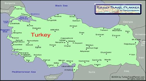 turkey on the map map of turkey where to go