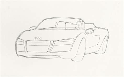 how to draw an audi r8 drawingforall net how to sketch iron s 2014 audi r8 spyder