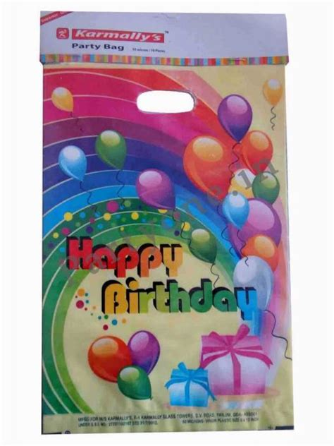 Scrapframe Birthday 20 30 Cm balloon loot bags set of 10 p1pc000726 gift bags
