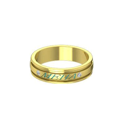 buy gold name rings for both and in at