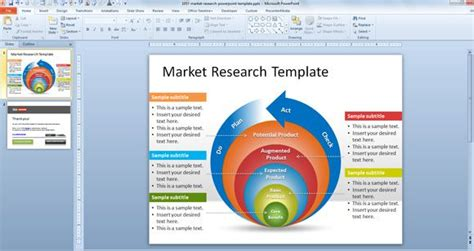 free market research powerpoint template free powerpoint
