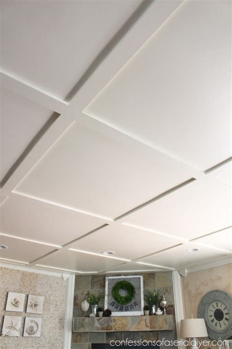 coffered ceiling ideas faux coffered ceiling confessions of a serial do it