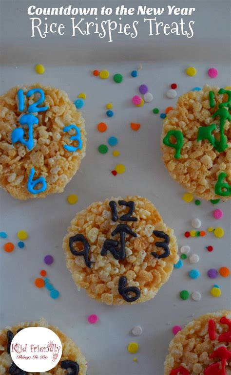 how to make new year treats countdown to the new year rice krispies treats for