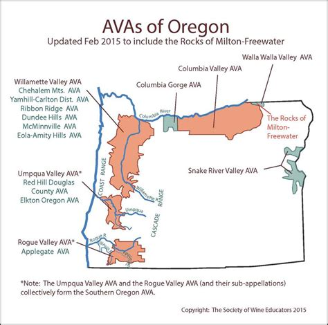 map of oregon vineyards oregon wine map updated 2015
