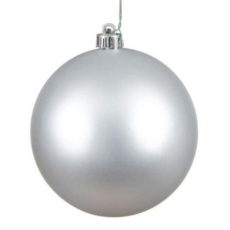 vickerman 6 quot silver matte ball christmas ornament 4 per
