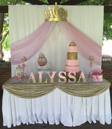 Princess Baby Shower Ideas by Princess Baby Shower Cake Table Backdrop Princess Baby