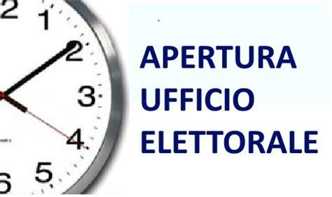 ufficio elettorale apertura ufficio elettorale elezioni 2018
