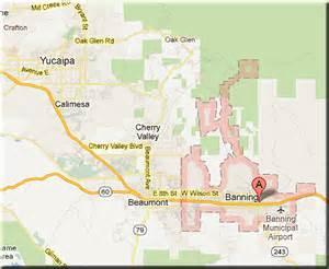 banning california map garrigusrealestate net