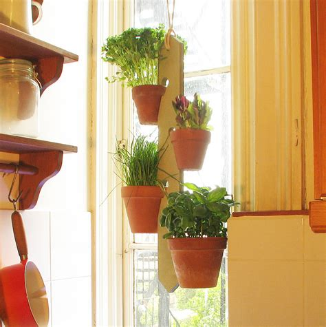 Plant Holder - four pot hanging plant holder by potnotch