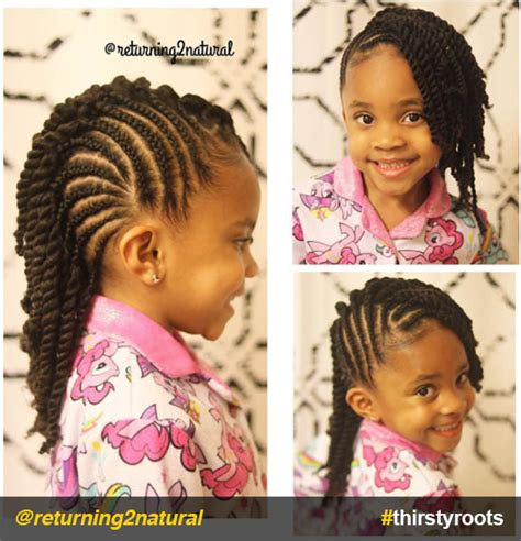 young black american women hair style corn row based 20 cute natural hairstyles for little girls