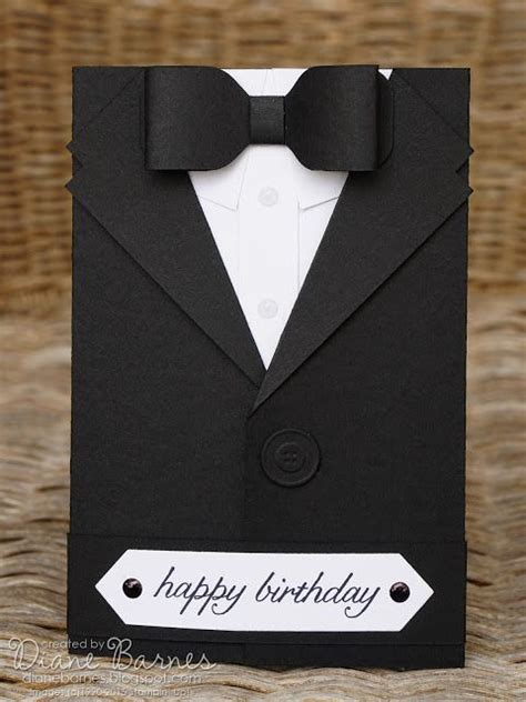 Suit Card Template by Masculine Suit Tuxedo Birthday Fathers Day Card With