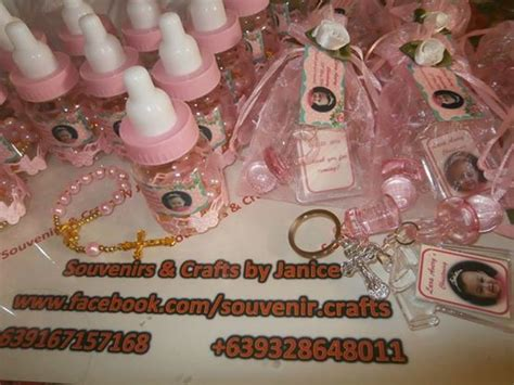 Christening Giveaways Baby Girl Philippines - pink keychain girl favor souvenir for baptism or christening baptism baby shower