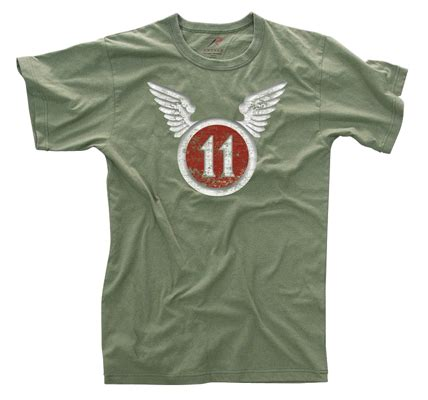 Hoodie The Eleventh Patch vintage 11th airborne olive drab t shirt