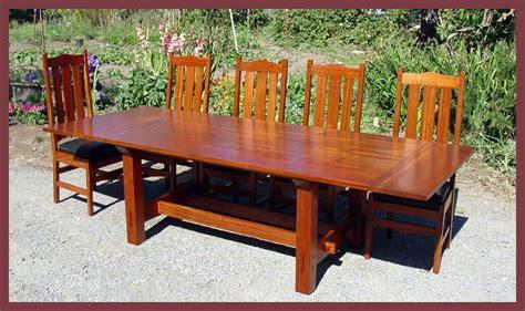stickley mahogany dining table voorhees craftsman mission oak furniture gustav stickley