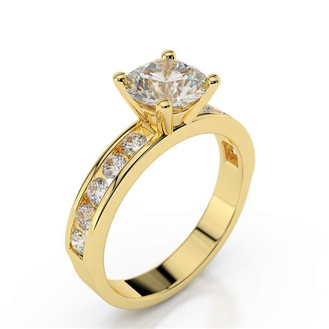 1 carat f si1 engagement ring cut