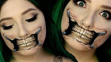 Torn Skeleton torn skull makeup tutorial hanz