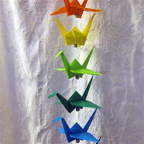 Origami Crane String - hanging origami mobile