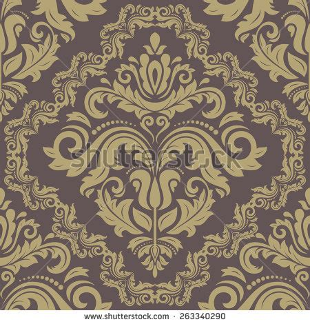 wallpaper classical elements vector pattern inspired by paisley damask stock vector