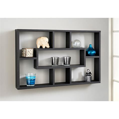 multi compartment shelf furniture storage b m