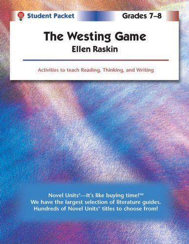 Novel The Westing the westing novels and student on