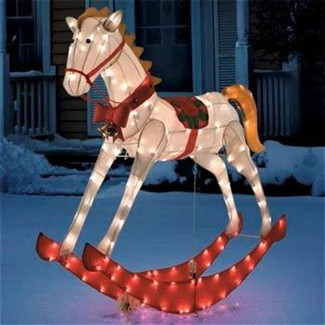 cheap 52 quot lighted and animated glistening rocking horse