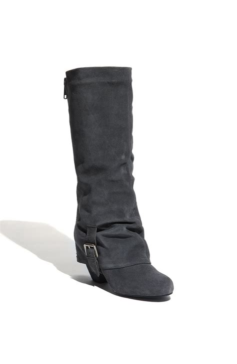 monkey jump start boot in gray grey suede lyst