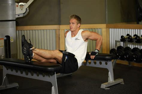 bench dips for chest weighted bench dip exercise guide and video