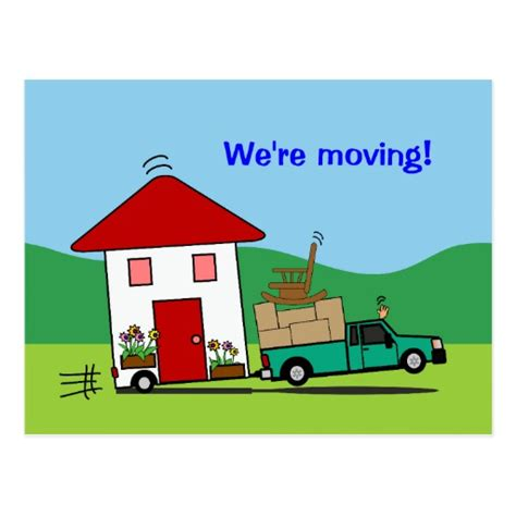moving house template postcards moving house template
