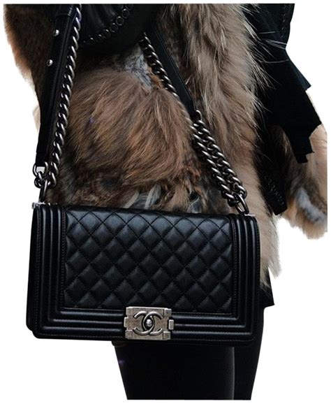 Channel Wog Boy Caviar chanel black lambskin shoulder bag tradesy