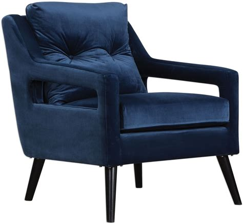 blue velvet armchair o brien blue velvet armchair 23318 uttermost