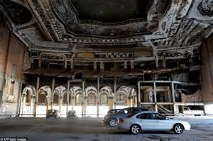 Ford World Headquarters Garage by Michigan Building Theater In Detroit Turned Into Car