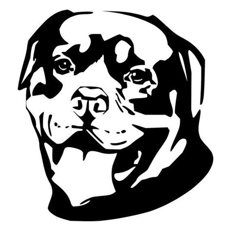Rottweiler Face Die Cut Decal Car Window Wall Bumper Phone Window Decal Template