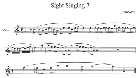 Music Resume Examples by Sight Singing Examples Lambottesmusic
