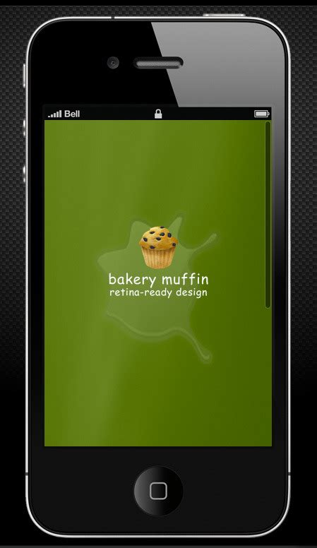 bakery muffin retina ready mobile template by rv designer