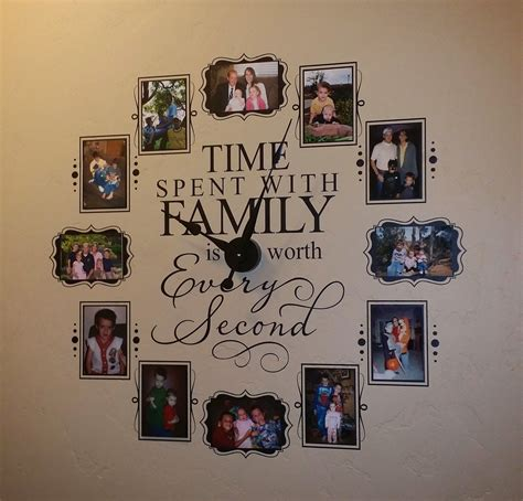 Vinyl 4 Decor by Vinyl 4 Decor Coupon Code For Time Spent With Family Vinyl Wall Clock 15