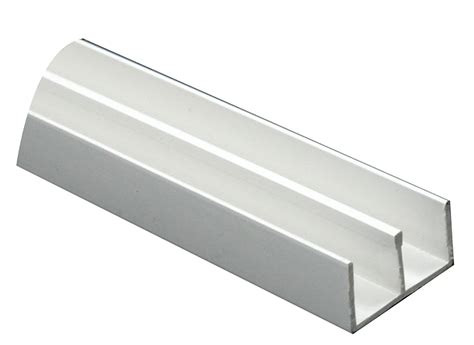 Kitchen Ideas With White Appliances White Pvc Double U Profile H 12mm W 13mm L 1m