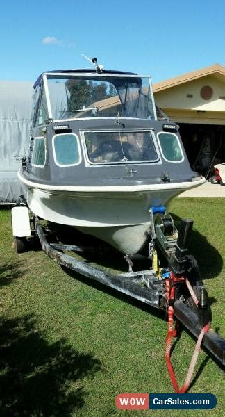 boat trailers for sale ebay australia half cabin boat 4 5 meter savage tasman with trailer for