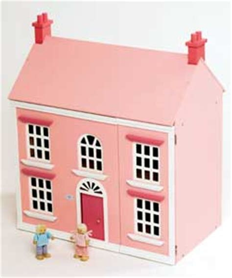 pink wooden dolls house wooden dolls house pink 3 storey review compare prices buy online