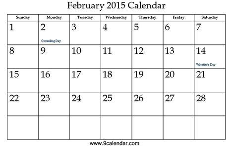 2015 february calendar template 7 best images of free printable 2016 february 2015