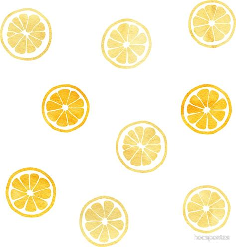 yellow watercolor pattern quot yellow watercolor lemon slices pattern quot stickers by